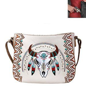 Concealed Carry Western Skull Crossbody Bag